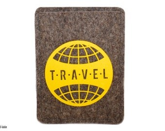 Passport cover made of wool felt - travel