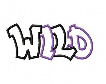 Wild 2 Color Embroidery Machine Applique Design 15090