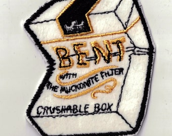 Bent Crushable Box Vintage New Retro Vintage Sewing Patch Applique 1970's