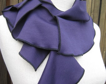 Deep violet color seaweed scarf plus made in USA