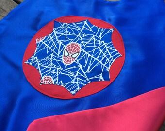 Glow in the dark SPIDER BOY Super Hero Cape - Spider  man superhero costume - Spider web really glows in the dark - Spiderman gift