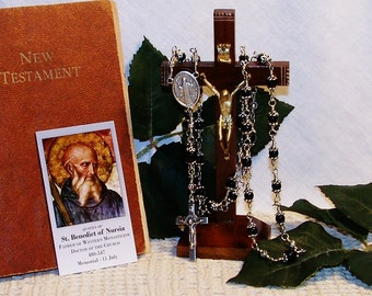 Traditional Full-Size Unbreakable Chaplet of St. Benedict of Nursia - Patron Saint of  Students, Farmers, Terminal Patients, Etc.