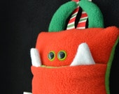 Tooth Pillow | Red and Green Monster | Tooth Fairy Monster Pillow