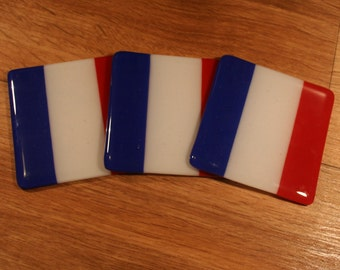 French Flag Coast - Blue White and Red Stripe