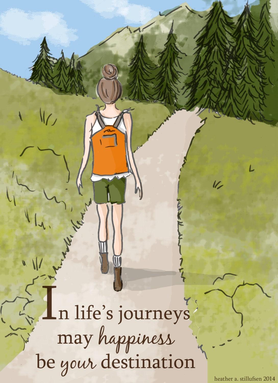 adventure art summer art hiking art prints art for women