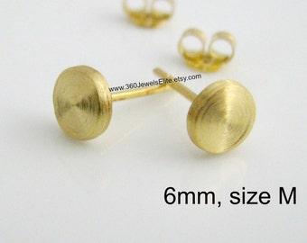 Solar cap men's stud earrings, men's earrings, flat disc studs, fake plugs, fake gauge, small stud earrings, 6mm stud earrings, 420 6MY