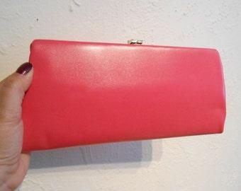 Hotly Sweetly Hot Pinks - Vintage 1950s Schiaparelli Hot Pink Convertible Handbag/Clutch