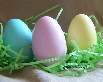 SOAP ~ 3 Egg Soaps in a Box ~ Easter Gifts ~ Baby Shower Gifts