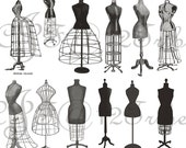 Vintage Dressforms Photoshop brushes - High Res