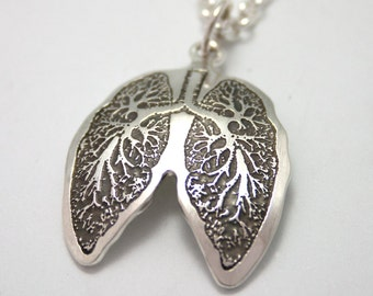 Breath Deeply....Anatomical Lungs Pendant