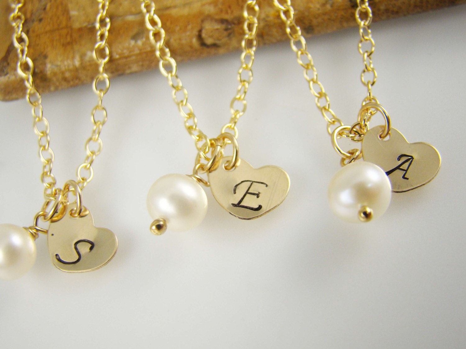 Flower Girl Gift Gold Initial Necklace by ShinyLittleBlessings