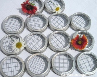 14 Mason Jar Frog Lids for Wedding Flowers, Silver or Gold