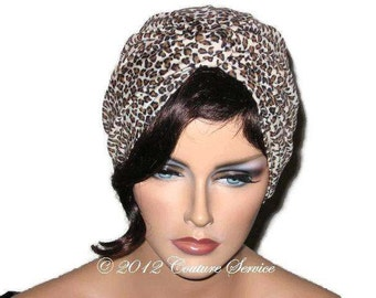Brown Turban, Tan Turban, Women's Handmade Fashion, Cheetah Turban, Animal Print Turban, Twist Turban, Turban Hat, Full Turban, Turbin