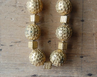 chunky 1940s brass geometric star necklace ∙ CELESTIAL