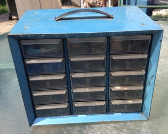 vintage metal small chest of drawers