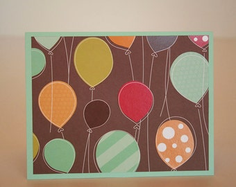 Birthday Card- Glossy Balloons