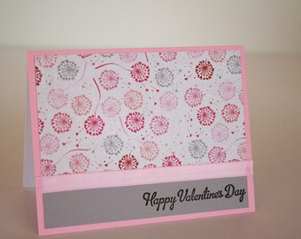 Valentine's Day Card- Dandelions and Hearts