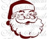 STENCIL Santa Claus    10x9.7