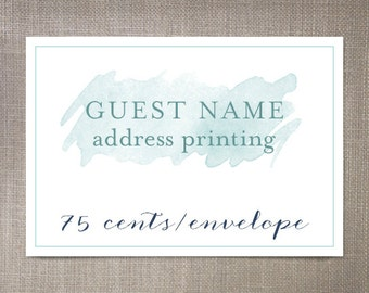 Guest Name Address Printing