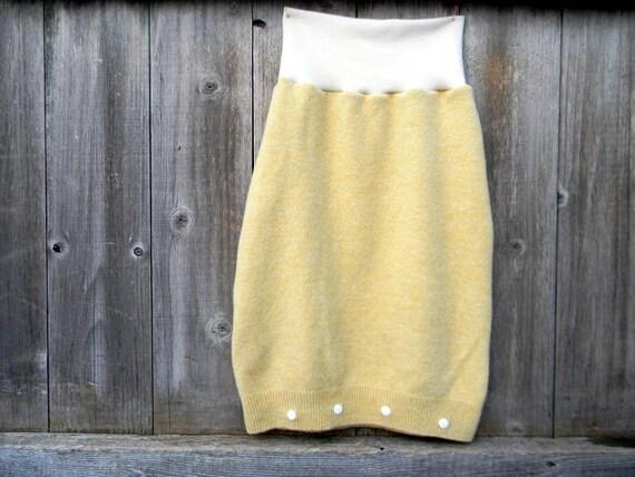 Baby Sleep Sack Luxurious Merino Wool Interlock  / Lambswool Sleep Sack 2- 10 Months Buttery Yellow