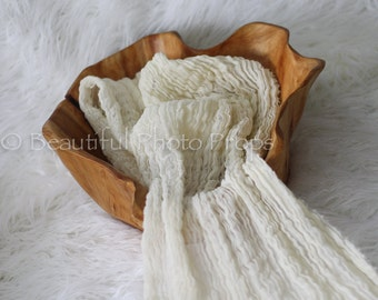 Cream Cheesecloth Baby Wrap Cheese Cloth Newborn Photography