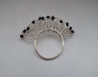 SALE Sterling silver ring 'Venice'