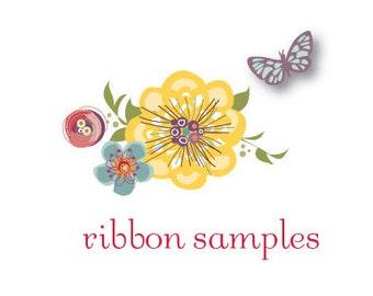 Ribbon Sash Samples, Ribbon Swatches, Satin, Grosgrain, Wedding and Bridal Belts and Sashes