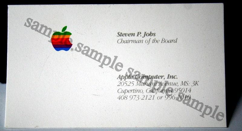 Steve jobs business card for Steve jobs business card