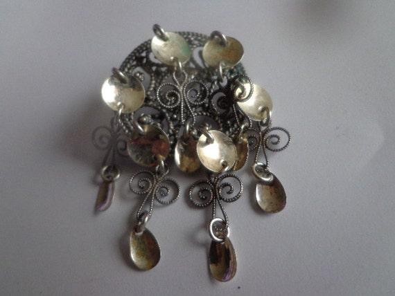 Vintage norwegian silver solje wedding brooch 830s by myma4me