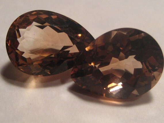 imperial topaz faceted gemstones by creativecabs