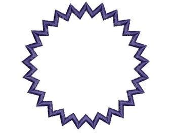 Applique Frames Applique Design Digitized Machine Embroidery Design - 3 Sizes - Instant Download