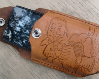 Leather Phone case with Custm Art