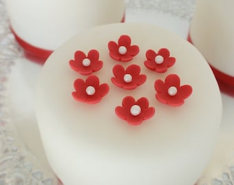 edible sugar mini flowers set of 85 color of your choice