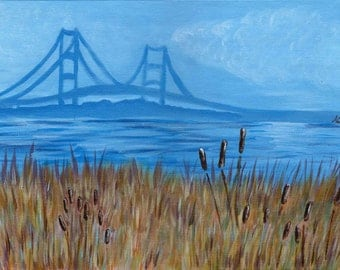 Bridge - Acrylic Landscape Painting