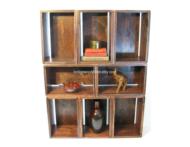 bookcase bookshelf wood crate shelves stackable by. Black Bedroom Furniture Sets. Home Design Ideas