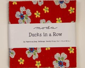 SALE Ducks In A Row Charm Pack by American Jane for Moda Fabrics