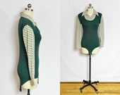 SALE - Vintage Green and plaid long sleeve bodysuit