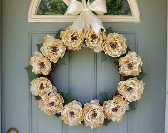 Spring/Summer Wreath - XL Spring/Summer Peony Wreath - Spring/Summer Door Wreath