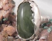 Vintage Chrysoprase Sterling Silver Ring