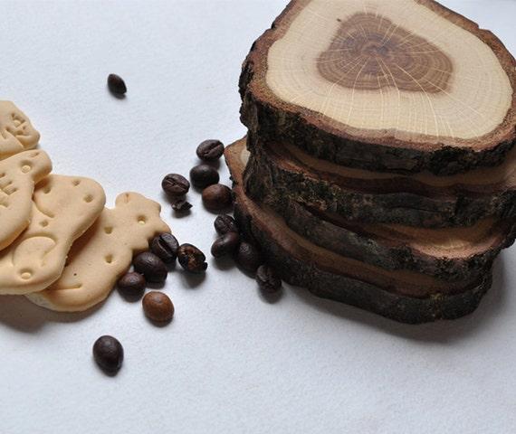 Oak Wood Coasters . . . set of 4