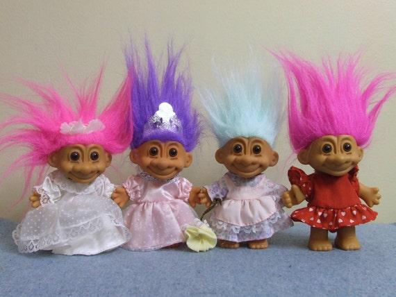 1990s Troll Dolls Troll dolls - russ 1990s