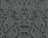Rubber Texture Sheets for clay and stamps Floral Sunburst Circle Modern Feather Plume Geometric