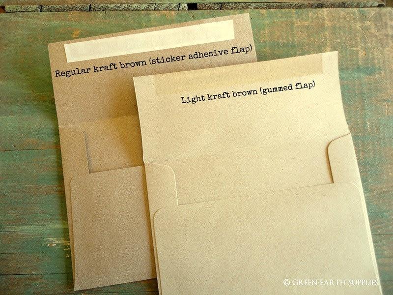 100 A2 Kraft Envelopes: kraft or light brown envelopes, grocery ...