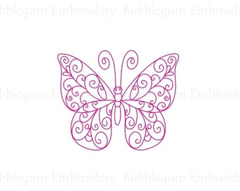 Redwork Butterflies Embroidery Designs Instant Download