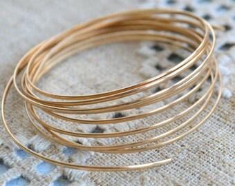 Wire 12 Gauge Round 12Kt Gold Filled 5 ft
