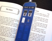 Blue Tardis Doctor Who Laminated Bookmark