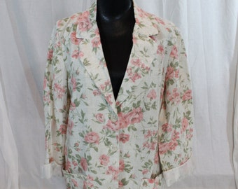 SALE Vintage 80s Floral Jacket by Sag Harbor