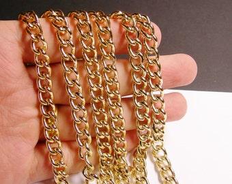 Gold chain - lead free nickel free won't tarnish .1 meter-3.3 feet made from aluminium - NTAC52