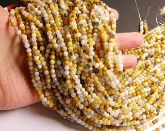 Crazy Lace Agate - 4mm round - 1 full strand - 93 beads - A quality - NRG137