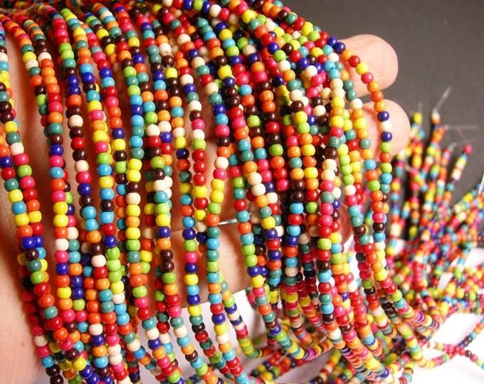 Howlite turquoise - multicolor - 3mm round beads - 1 full strand - 145 beads - rondelle